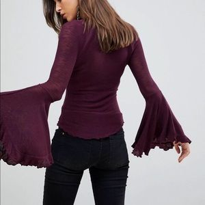 Intimately Free people so dramatic bell sleeve top